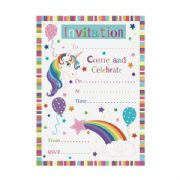 Pack of 20 Unicorn Party Invitations